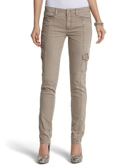 The Mod (Slim) Blanc Latte Cargo Jean
