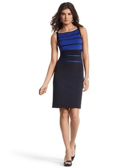 Banded Colorblock Sheath Dress