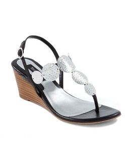 Lark Black Demi-Wedge Sandal