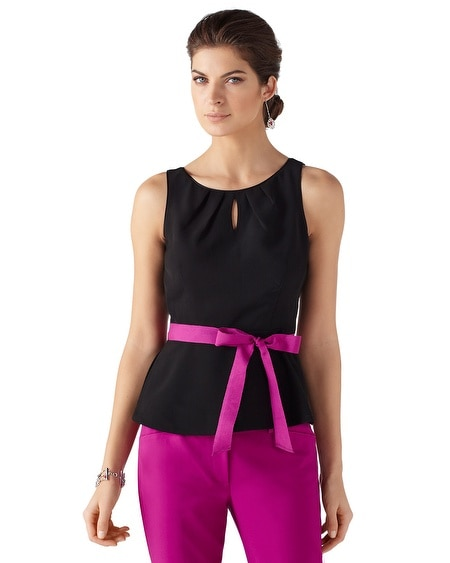 Sleeveless Peplum Shell