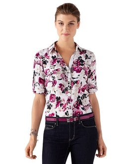 Silk Floral City Shirt