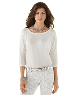 Easy Dolman White Tee