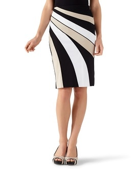 Cotton Sateen Banded Pencil Skirt