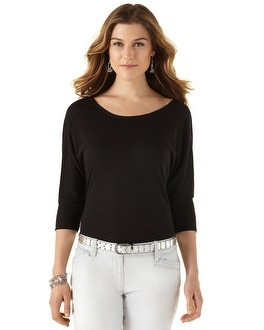 Easy Dolman Black Tee