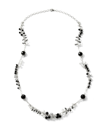 Black/White Beaded Necklace