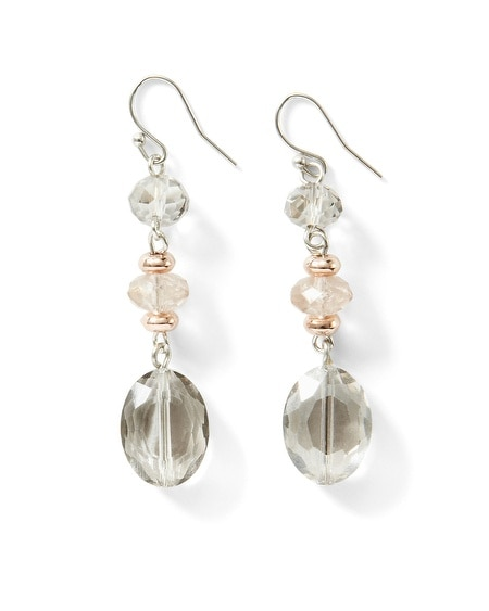 Mixed Metallic Linear Drop Earring
