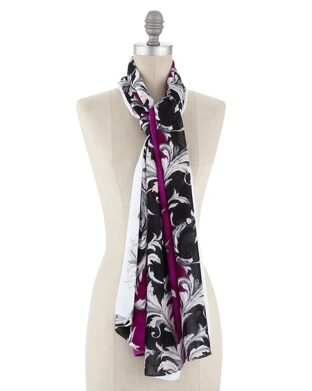 Very Berry Scroll Print Scarf