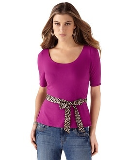 Very Berry Peplum Tee