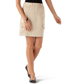 Shell Embellished Casual Skirt