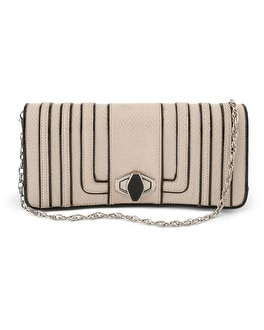 Snake-Embossed/Patent Trim Bag