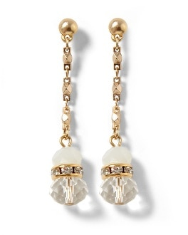 Neutral Goldtone Linear Earring