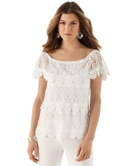 Lace Tiered Blouse