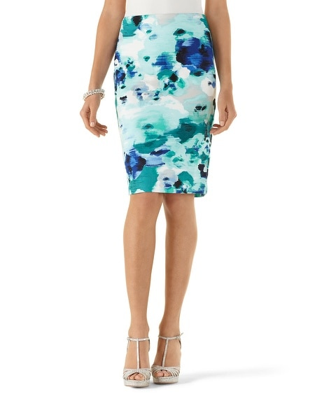Watercolor Pencil Skirt