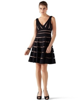 Shadow Stripe Party Dress