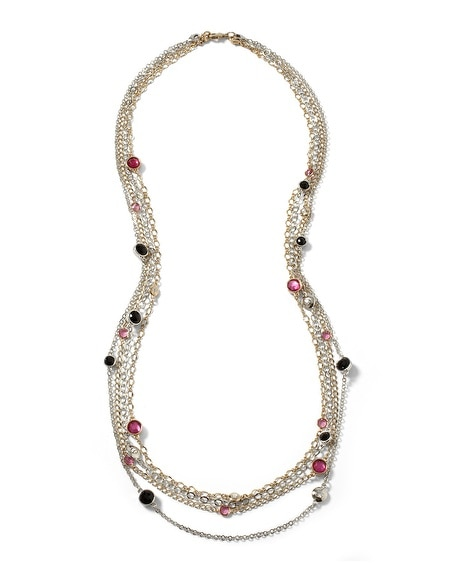 Long Berry Mixed Metal Necklace