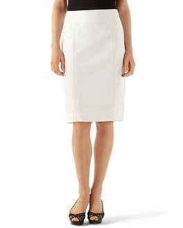 White Perfect Form Pencil Skirt
