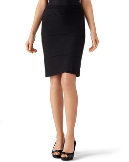 Black Tiered Pencil Skirt