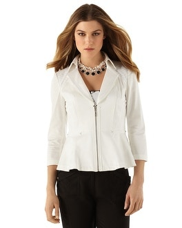 3/4-Sleeve Peplum Jacket