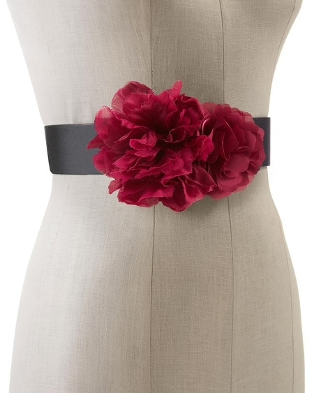 Very Berry Flower Stretch Belt