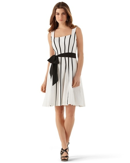 Grosgrain Stripe Faille Sundress