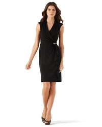 Matte Jersey Surplice Dress