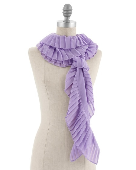 Lilac Pleated Oblong Scarf