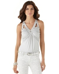 Embellished Openwork Date Top