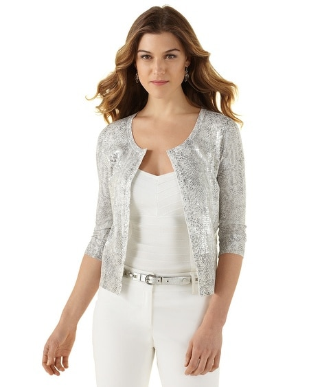 Snake & Sequin Cardigan