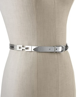Skinny Metal Watchband Stretch Belt