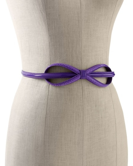 Iris Elongated Bow Belt