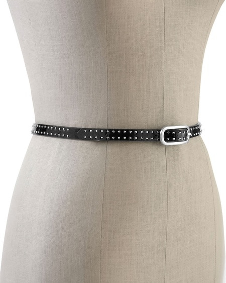 Reversible Studded Skinny Belt