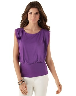 Iris Sleeveless Banded Bottom Top