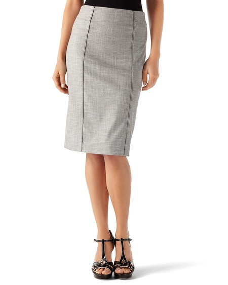 Twill Suit Pencil Skirt