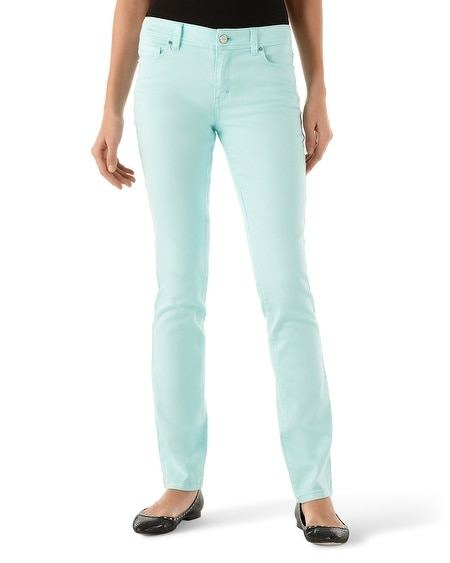 Blanc Sea Glass Slim Ankle Jean