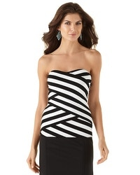 Tiered Stripe Tube Top
