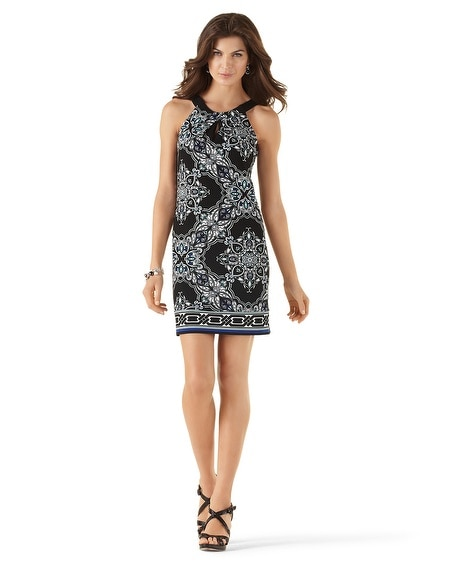 Cutaway Printed Shift Dress