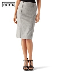 Petite Twill Suit Pencil Skirt