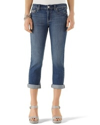 Blanc Double-Roll Cropped Jean