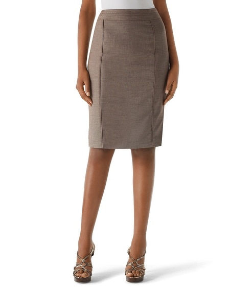 Espresso Tweed Suit Skirt