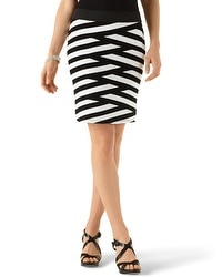 Striped Knee-Length Skirt