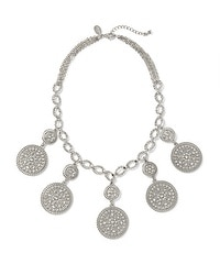 Short Filigree/Crystal Disc Necklace