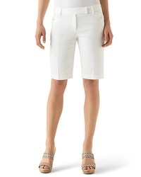 Smooth Stretch Bermuda White Short