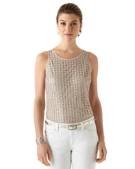 Sequined Summer Date Top