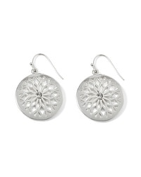 Silvertone Cutout Drop Earring