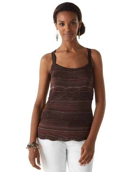 Espresso Tiered Knit Top