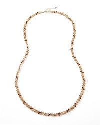 Goldtone/Orange Braided Necklace