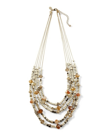 Goldtone/Orange Convertible Necklace