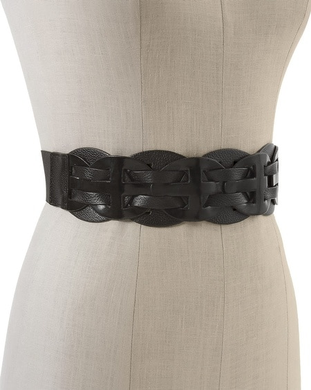 Leather Woven Stretch Belt