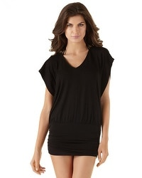 Black Dolman Sleeve Coverup