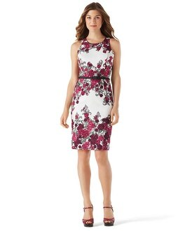 Floral Print Sheath Dress - White House Black Market